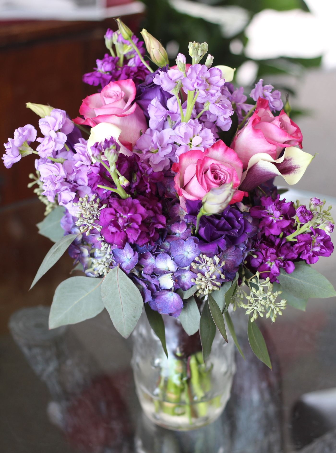 Stock Wedding Bouquet - Stock comes in shades of pink, lavender ...