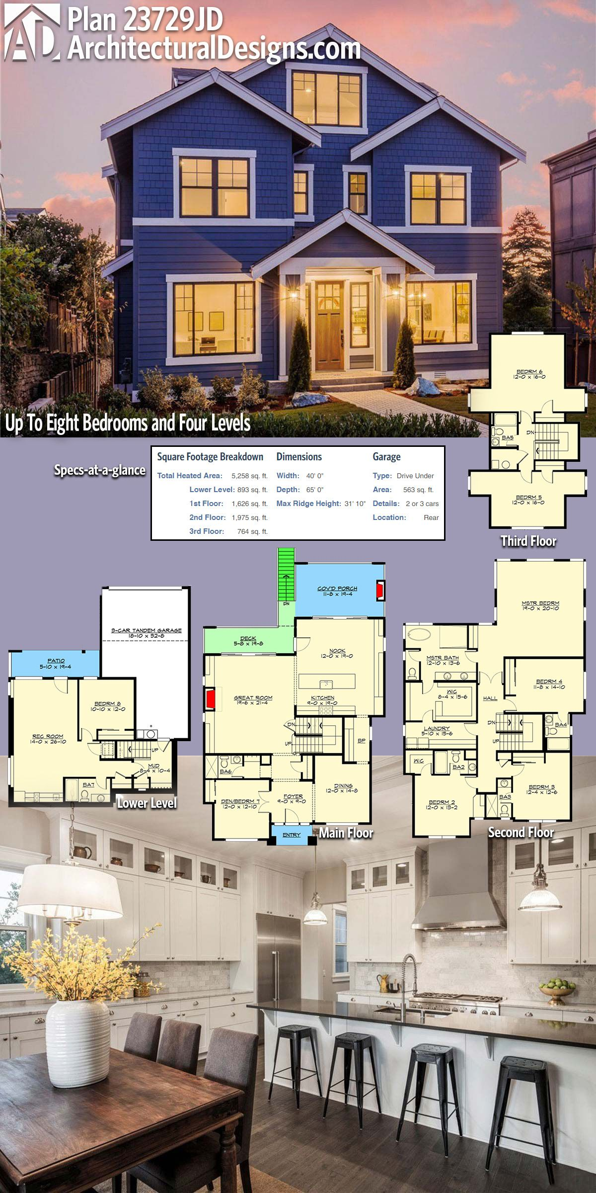 Plan 23729JD Up To Eight Bedrooms