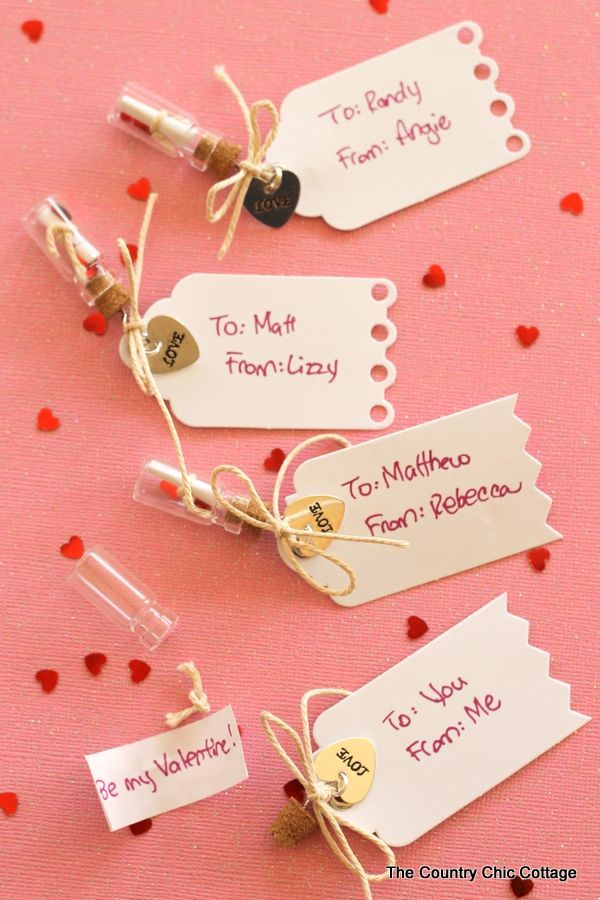Message In A Bottle Valentines Creative Valentines Day Ideas Diy Valentines Gifts Valentines Diy