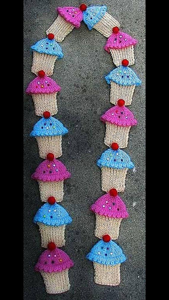 Cupcake Scarf.   Crochet Projects   Pinterest   Tejido, Gorros y ...