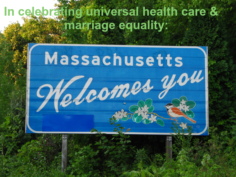 We welcome the rest of the US to universal health care and marriage equality!
