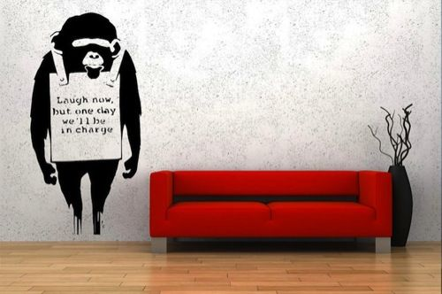 Banksy Street Art Vinyl Wall Decor Stupiddope
