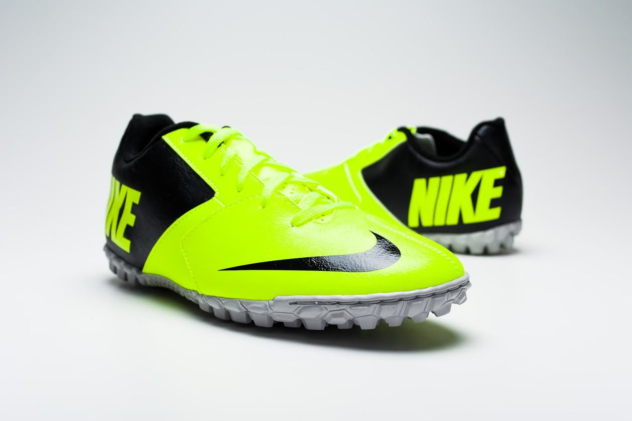 Nike FC247 Bomba II Turf Soccer Shoes - Volt and Black...Available at