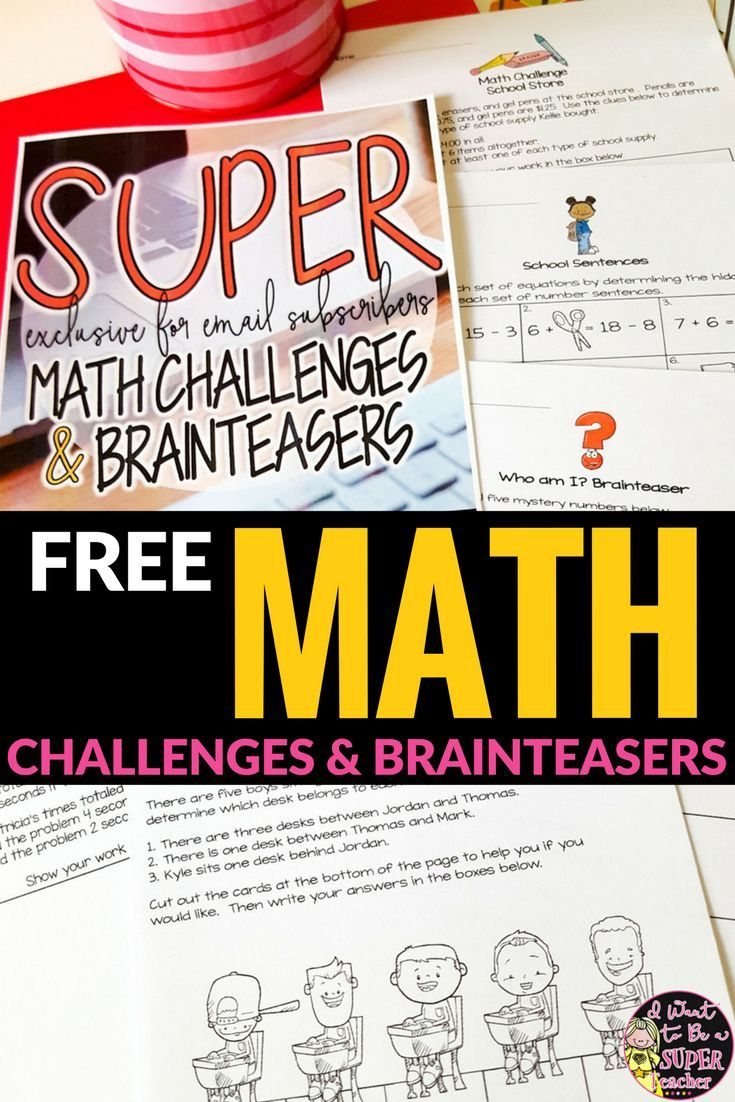 Challenge Advanced Learners TODAY with FREE Math Challenges | Math ...