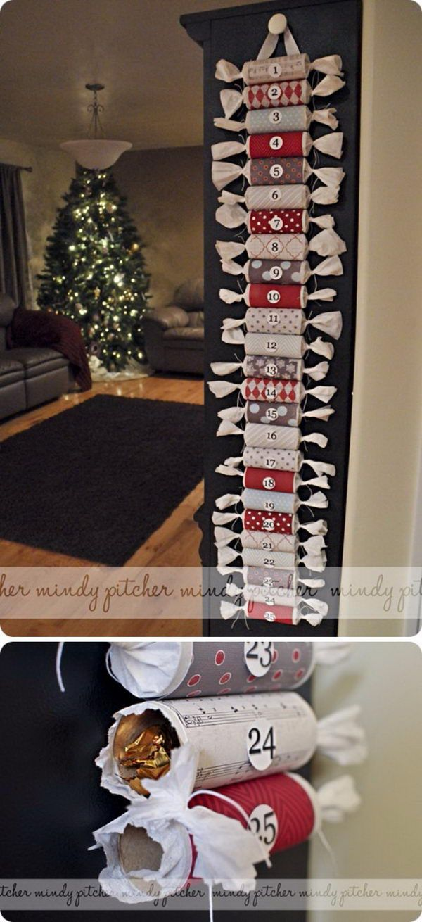 20+ DIY Adventskalender Ideen & Tutorials #toiletpaperrolldecor