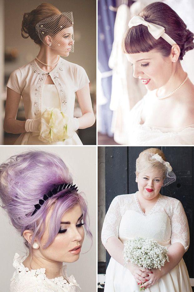 Retro Chic 28 Vintage Wedding Hair Ideas Onefabday Com Ireland Vintage Wedding Hair Vintage Hairstyles Bridesmaid Hair Half Up