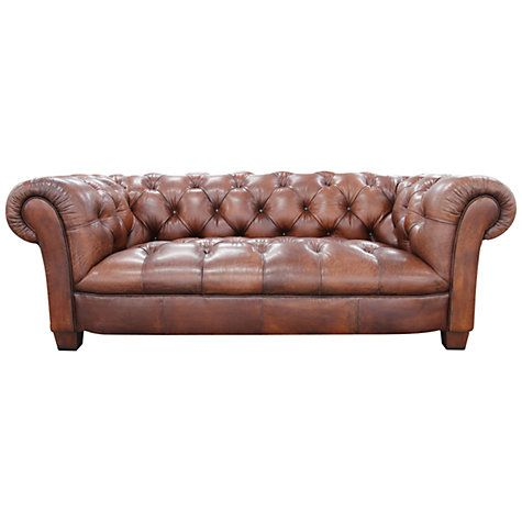 John Lewis Todd Large Leather Chesterfield Sofa Aged Chocolate Leather Chesterfield Sofa Chesterfield Sofa Factory Ceiling Light