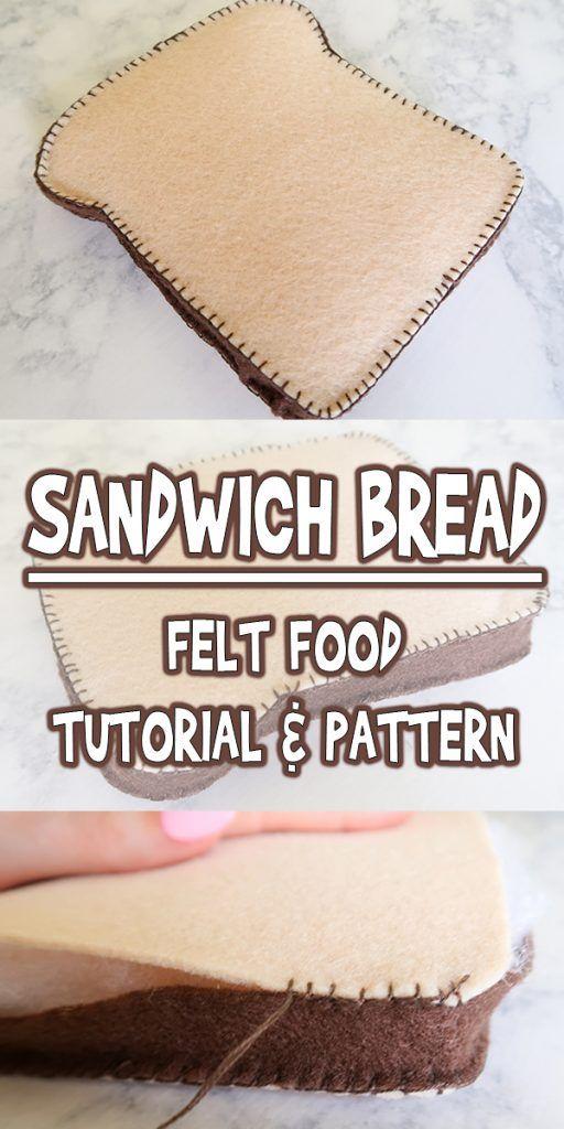 Felt Food Sandwich Bread #fooddiy