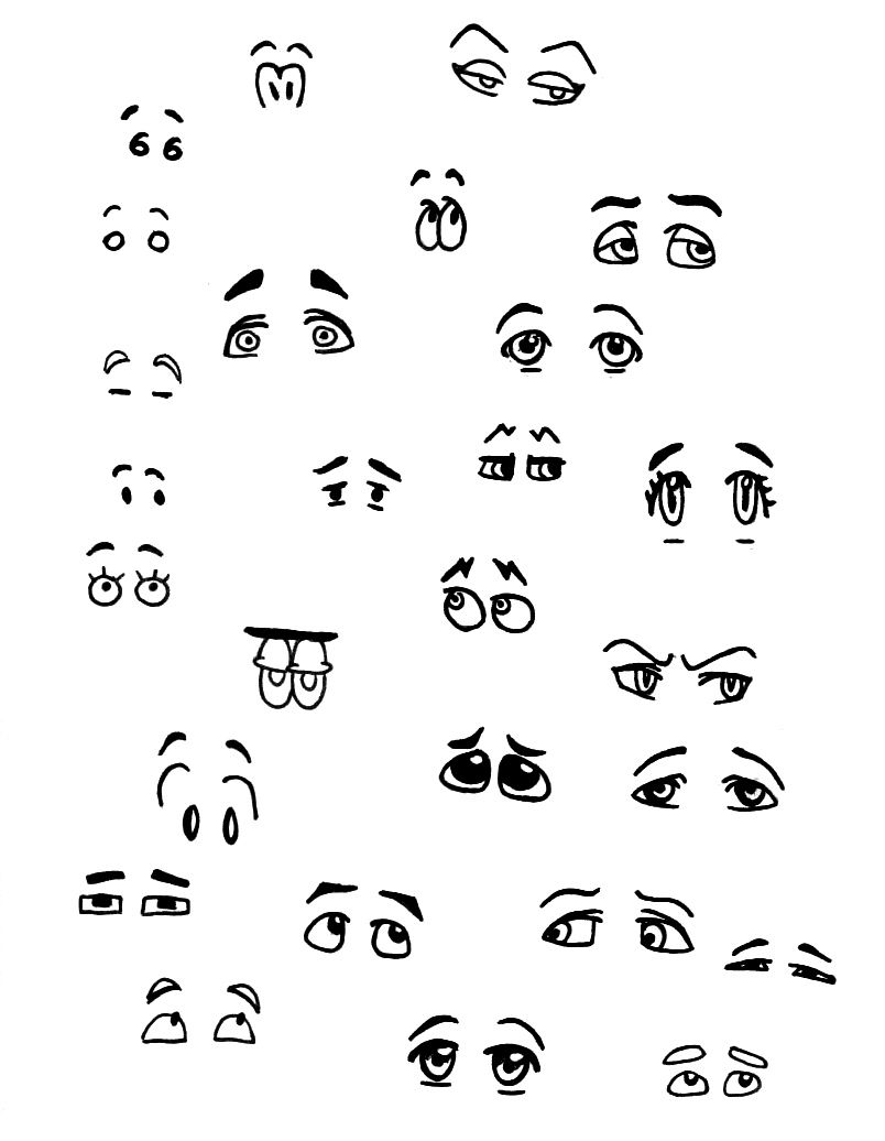 How Many Expressions Can Eyebrows Convey Cartoon Eyes Cartoon