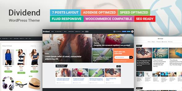 Dividend v1.0.6 Ultimate Magazine WordPress Theme Blogger Template ...