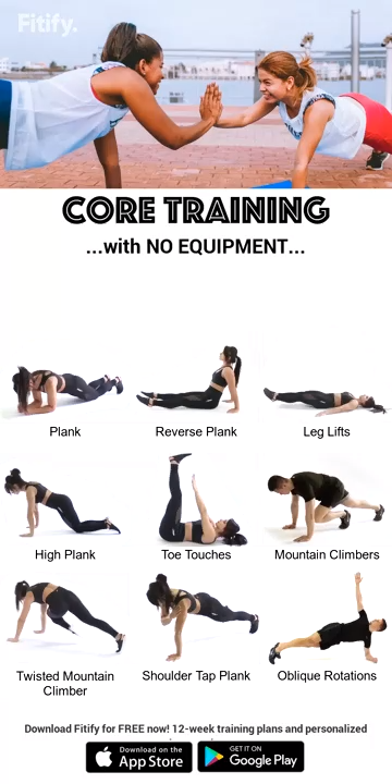 Core Training Workout With No Equipment        Core Training Workout With No Equipment,Gymnastik...