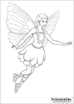 Barbie Mariposa Coloring Pages Gabarit Pinterest