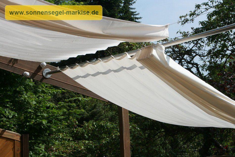 Bevorzugt Holzpergola schräg kombinierter Sonnenschutz & Regenschutz SX47