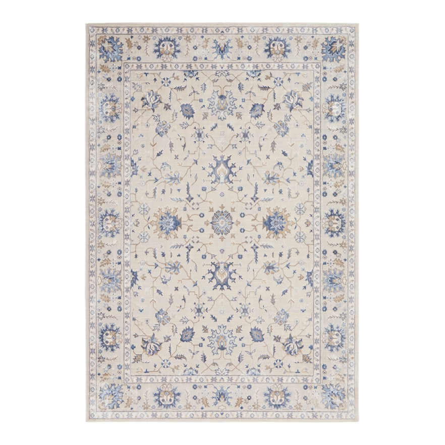 Nourison Sleek Textures Dallas Rug White 4x6 Ft Floral