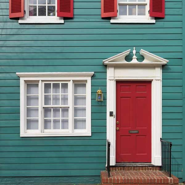 Your Toughest Paint Questions Answered House Paint Exterior Red Door House Red Shutters