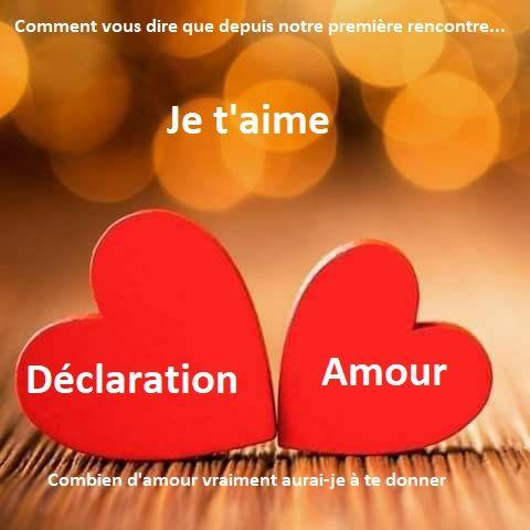Déclaration Damour Romantique Cest La Plus Belle