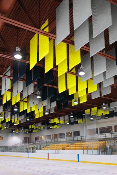 These Armstrong Acoustical Baffles Are Ideal For Indoor