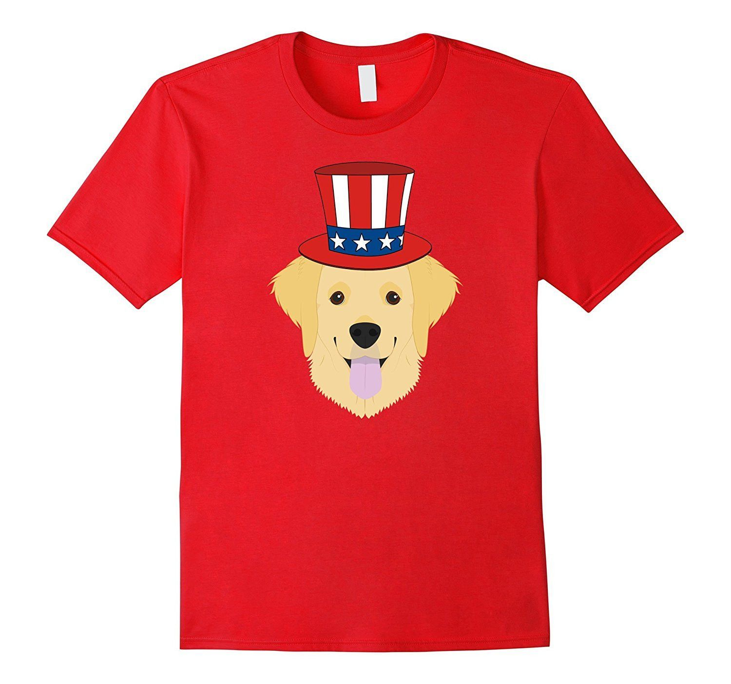 The 4th of July Patriotic Golden Retriever Dog lover T-Shir
