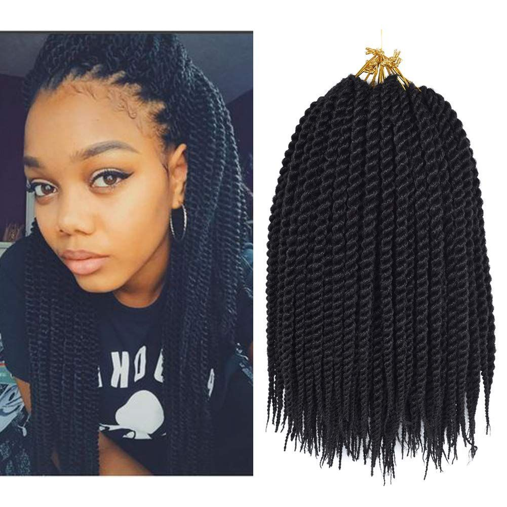 Refined Hair 12Inch 22Roots Senegalese Twist Hair Crochet