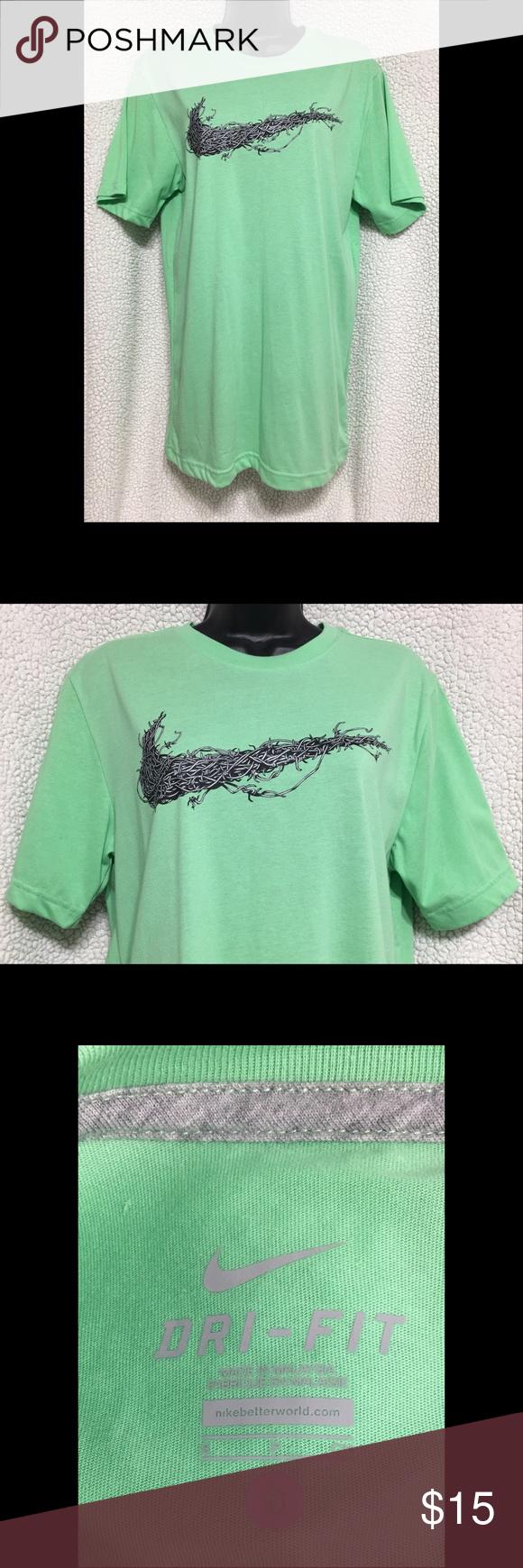 Nike short sleeve Dri Fit shirt | Nike shorts, Green colors and ...