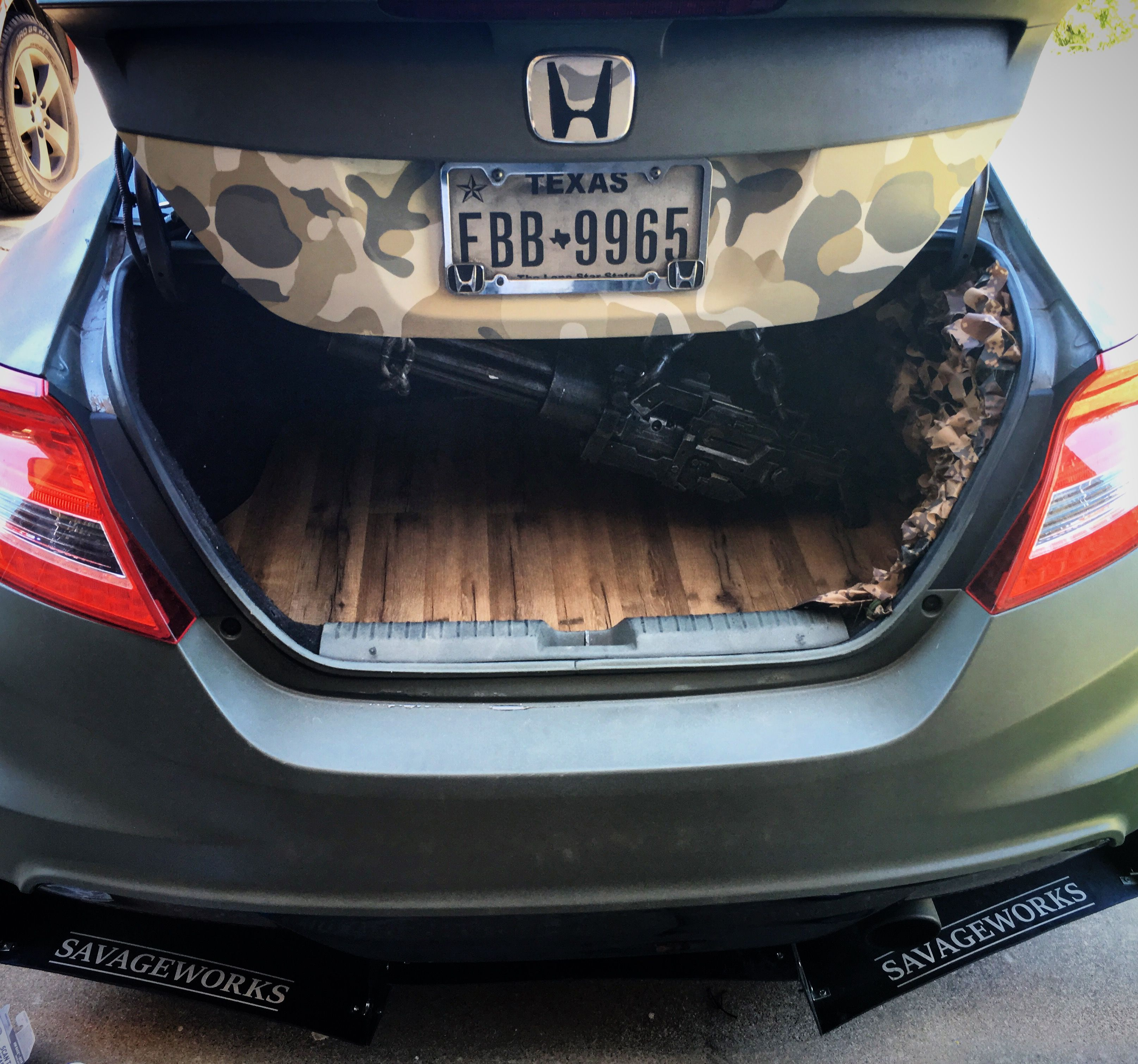 Trunk Display 2012 Honda Civic Si Military Themed Army
