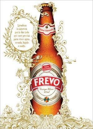 Cerveja Frevo Pilsen, estilo Standard American Lager, produzida por Frevo Brasil Indústria de Bebidas, Brasil. 5% ABV de álcool.