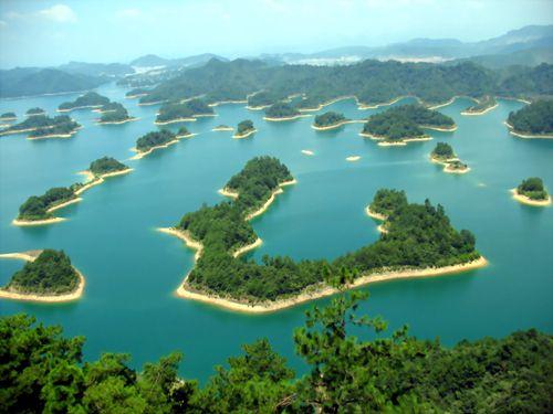 Qaindao Lake, China - 1,078 large islands and a few thousand smaller ones