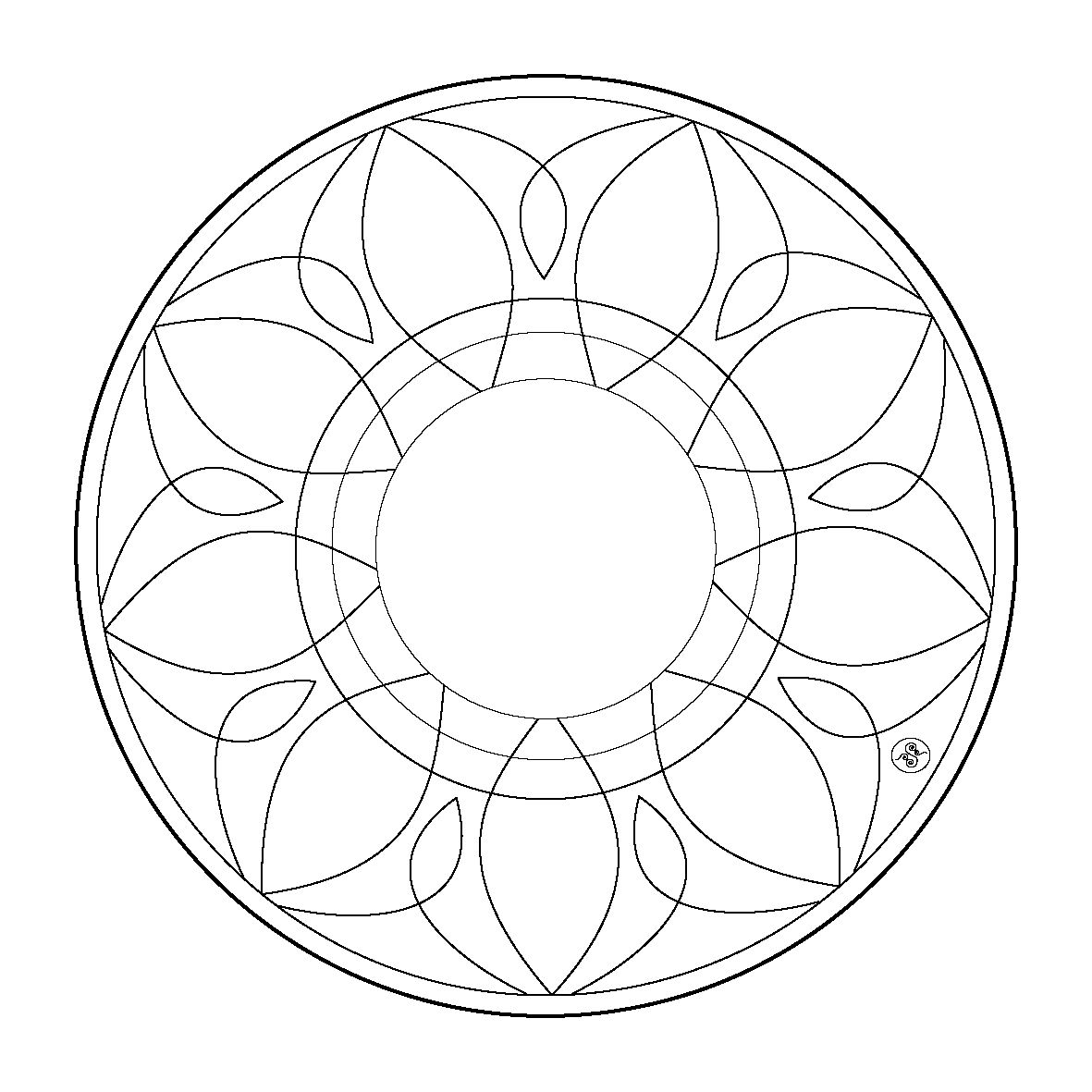 Mandala Coloring pages Mandala coloring pages, Simple