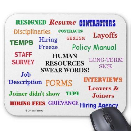 Annoying But Funny Human Resources Words Joke Gift Mouse Pad $1225