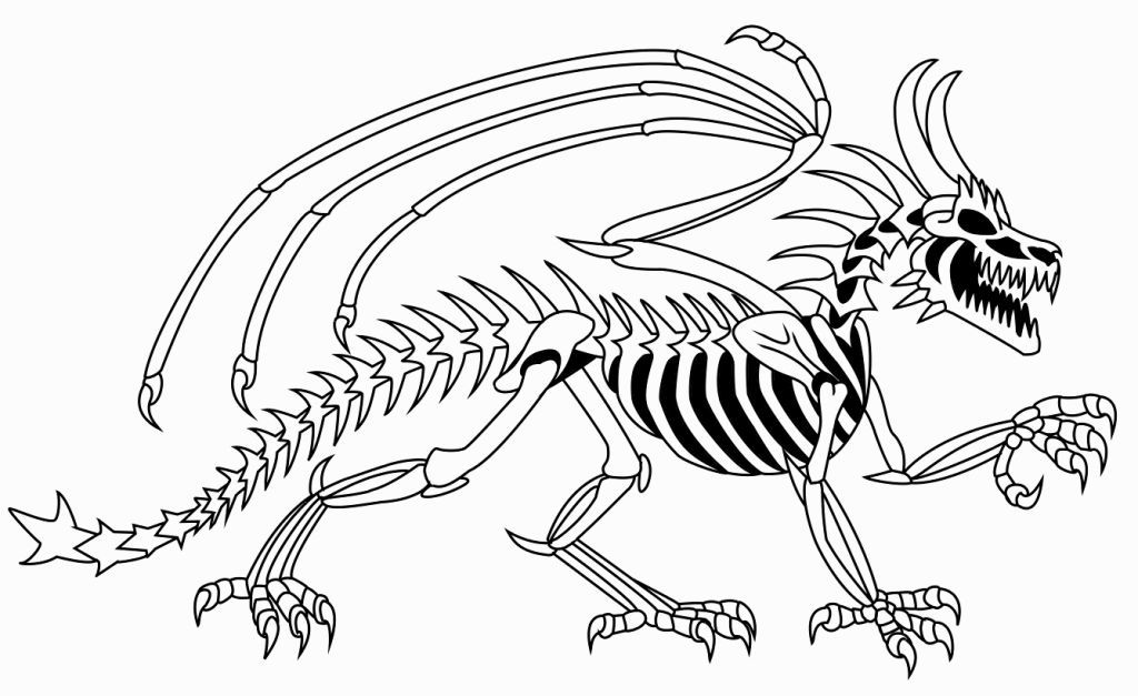 Dinosaur Skeleton Coloring Pages Dinosaur Coloring Pages