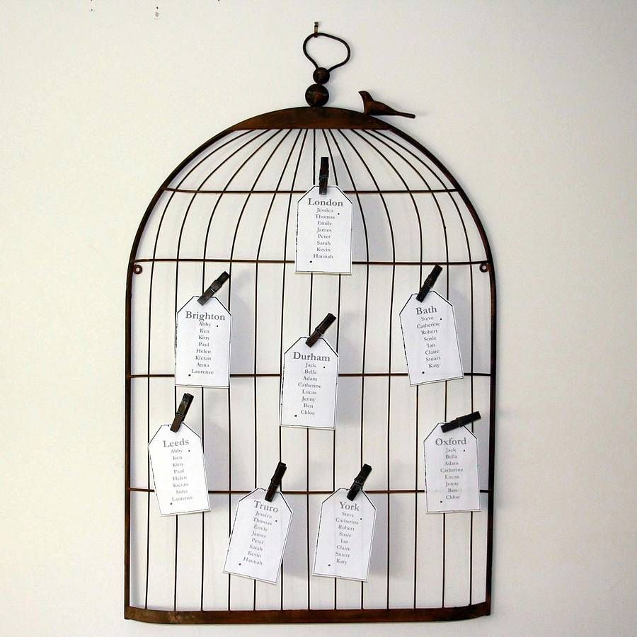 Seating Plan Using A Real Bird Cage And Cuter Little Papers