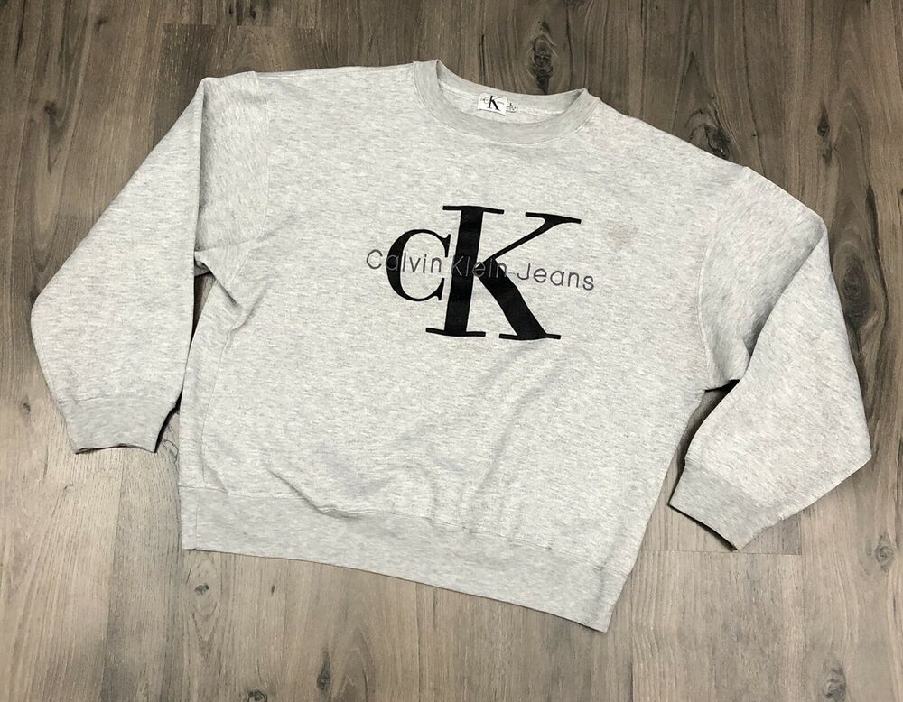 Vintage CK Jeans Crew Neck Sweatshirt Large Calvin Klein