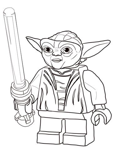 Lego Star Wars Master Yoda coloring page from Lego Star Wars ...
