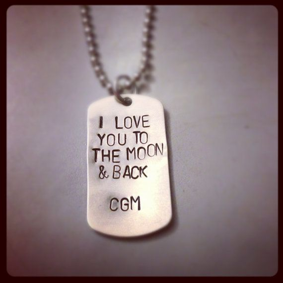 Personalized Hand Stamped Men's Dog Tag by KristinesKeepsakes, $22.00