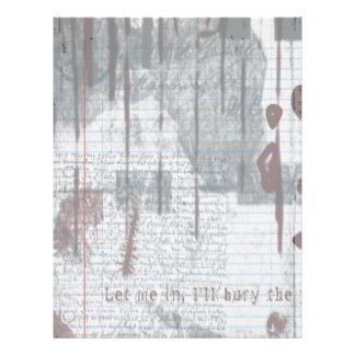 Notebook Paper Template  Red All Over Goth Notebook Paper