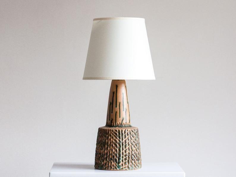 Danish Ceramic Lamp Studio Pottery Danish Vintage Lamp Etsy Ceramic Lamp Danish Ceramics Scandinavian Table Lamps