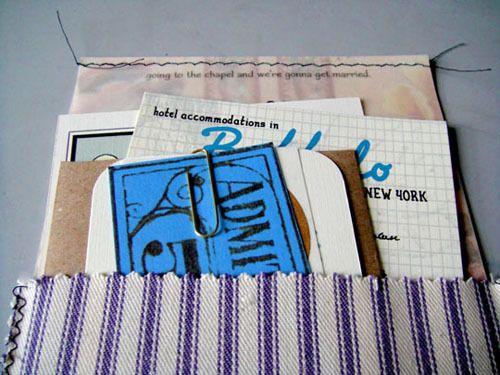 DIY Handmade Vintage Ephemera Inspired Wedding Invitations - tcm