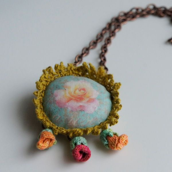 """LOUISE LOVELL-  """"I design and make textile based jewellery with a strong emphasis on colour and texture"""""""