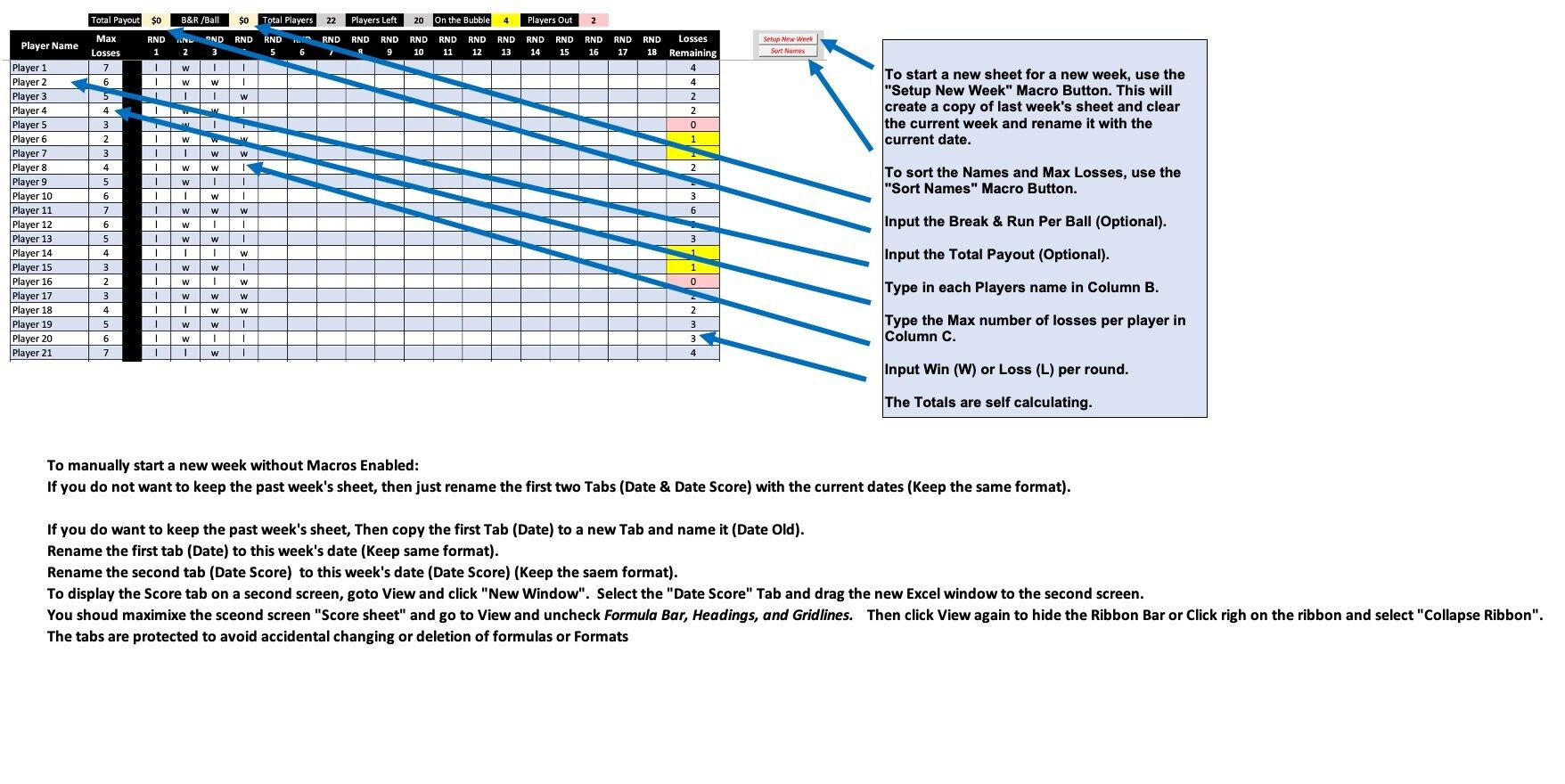 Pin On Pool Tournament Spreadsheet Software Template