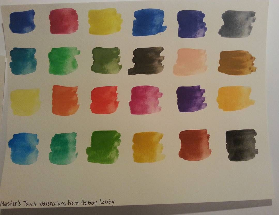 Watercolor Swatch Using Hobby Lobby S Master S Touch Watercolors