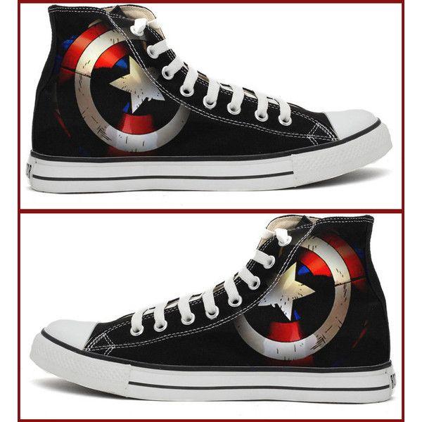 Captain America Shield Converse Shoes