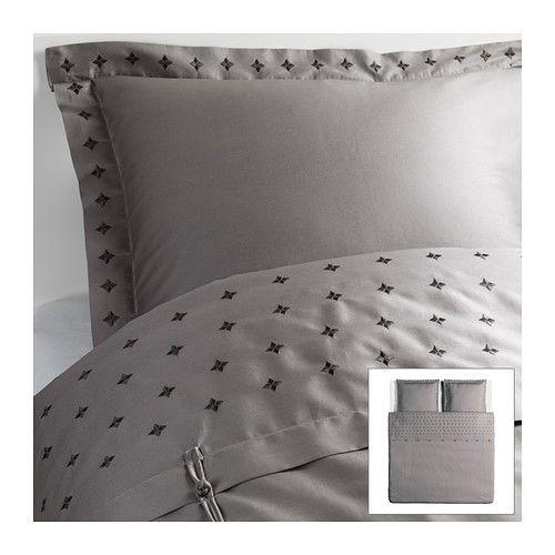 vinranka housse de couette et 2 taies ikea satin de coton tiss pour un linge de lit doux au. Black Bedroom Furniture Sets. Home Design Ideas