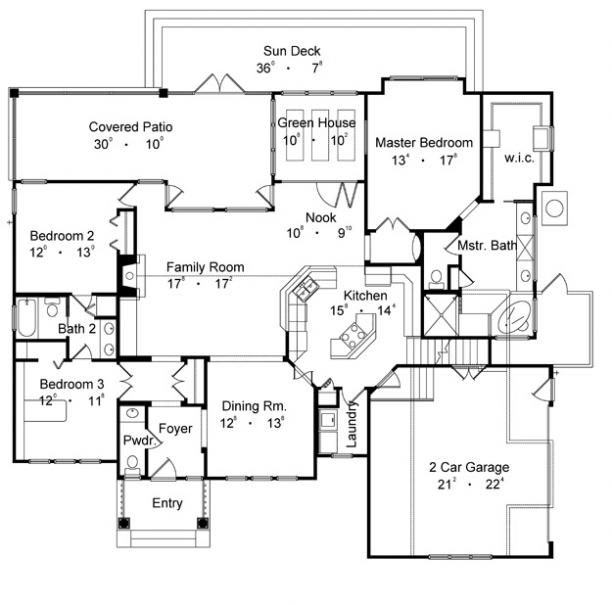 Nearly Perfect Floor Plan Love The Attached Greenhouse Next To Kitchen And Bedroom