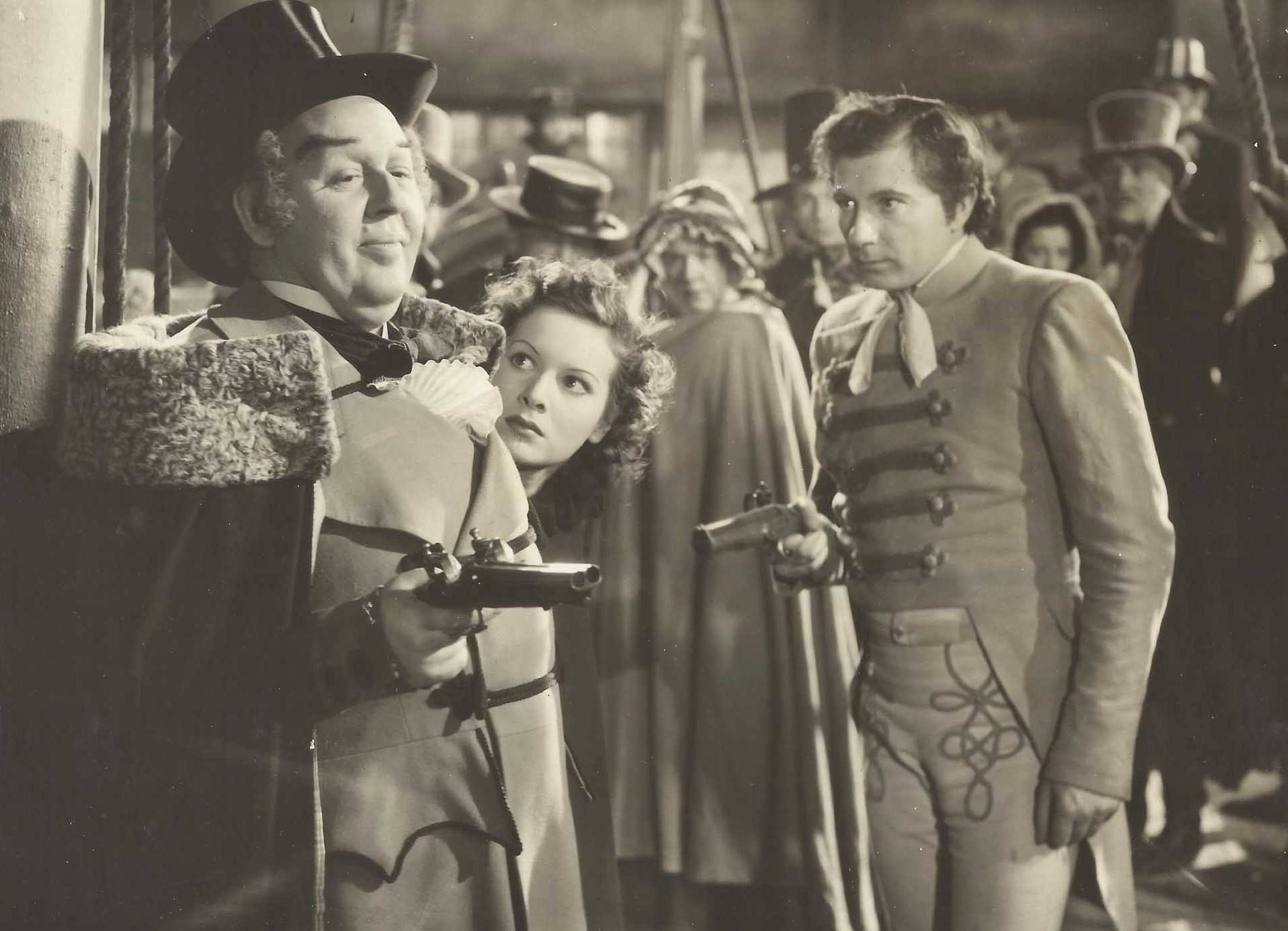 Jamaican standoff: Charles Laughton, Maureen O'Hara and Robert Newton reach an impasse in Jamaica Inn (1939)