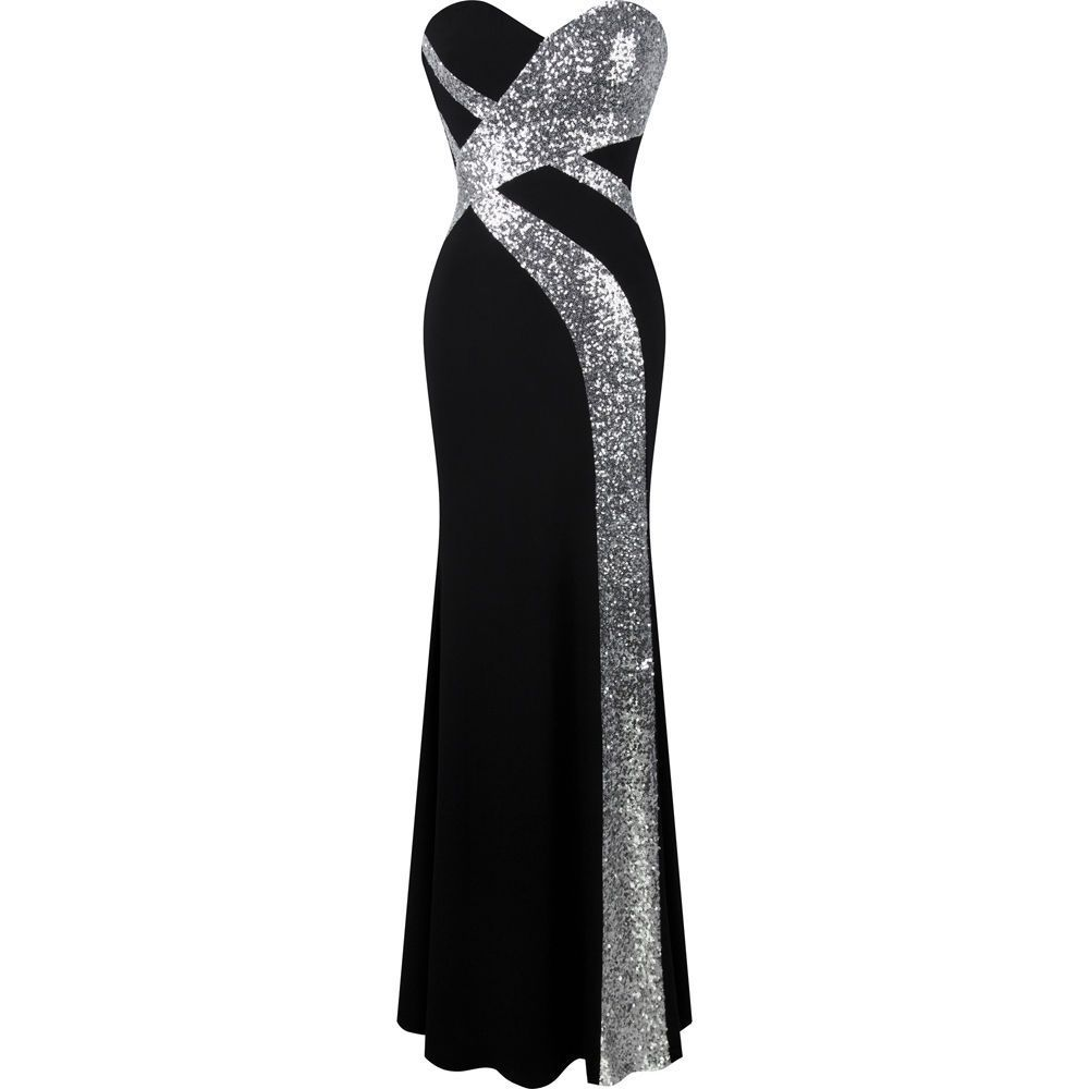 05cb2843a64a8 Angel-Fashions Women'S Strapless Sweetheart Criss-Cross Classic ...