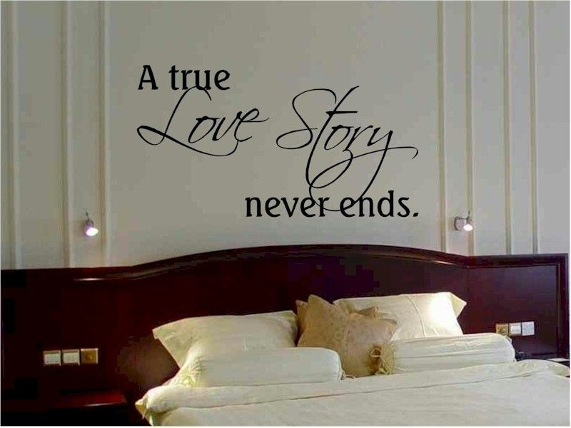 Items Similar To Wall Quote Sticker Decal A True Love Story Never Ends Bedroom  Wall Love Quote On Etsy