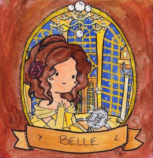 Belle - Signed Watercolor Print