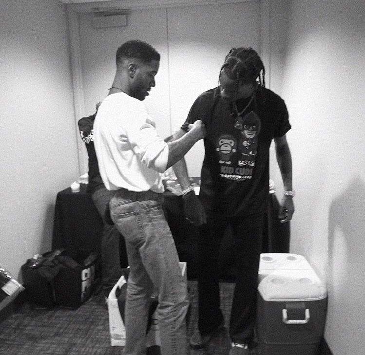 Kid Cudi Travis Scott Backstage At ComplexCon