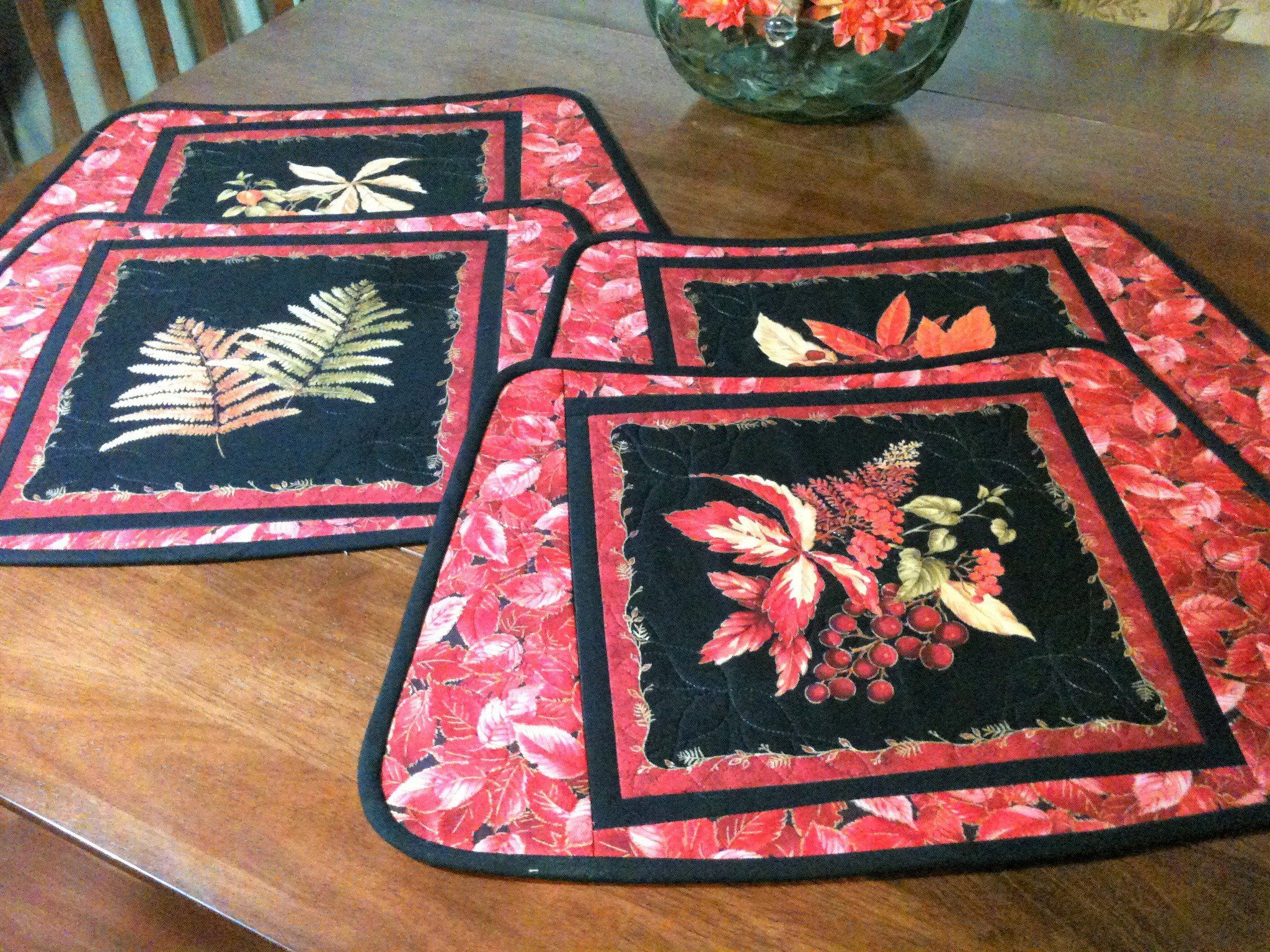 Vivid Fall Round Table Wedge Placemats Gorgeous Colors Etsy Placemats Fall Placemats Dream Catcher Boho