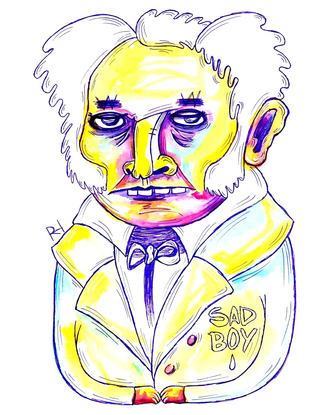 5D_A Philosophe -> A. Schopenhauer 30 Days Drawing Challenge # 30daysdrawingchallenge #philosopher #challenge #schopenhauer